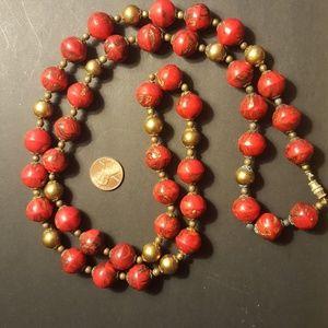 Vintage necklace, Artisan blown glass, original